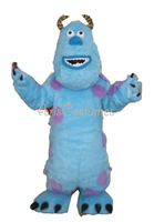 long fur mascot sully monster inc mascot costume for kids party adult fancy dress