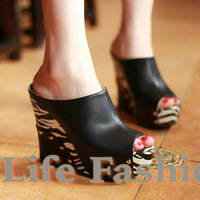 Free shipping,2013 fashion summer,Toe sandals,Slides,Women's sandals,pumps,wedge heels,high heels,woman's shoes,3 colors