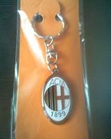 Italy  ac milan keychain metal  /  key chains  key holder for football team   2pcs/lot