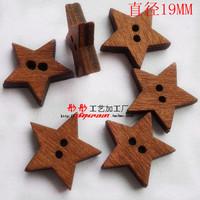 mix order (Min. Order button is $15 )WB0556 2-holes100pcs hollow star wood  cute cartoon wooden buttons