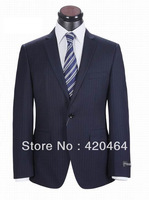 Free Shipping, Regular Fit Men Top Brand Tailored Fashion Wedding Suit Strip Wool (Coat and Pants)