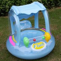 Adjustable Sunshade Baby Swim Float Seat Boat Inflatable Ring 16467