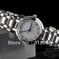 high quality manual diamond bezel luxury sapphire crystal water proof steel band wrist watch for women