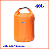 Free Shipping 40L Waterproof Dry Bag for Boating Floating Kayaking Camping Orange