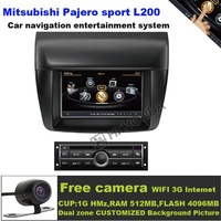 A8 S100 Car DVD Player 3G Wifi 20VCDC For Mitsubishi Pajero sport L200 low-end  free map +free shipping