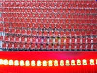 2014 promotion hot yes pnp sale  germanium high power 1000pcs/lot 5mm red led lighting beads electronic light box bright diode