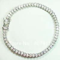 White Crystal Fashion Sporty S 925 silver Bracelet  B0565