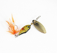 Free Shipping Fishing LureHard Bait With Paillette Feather Fresh Water Shallow Water Bass Walleye Crappie Minnow Fishing Tackle