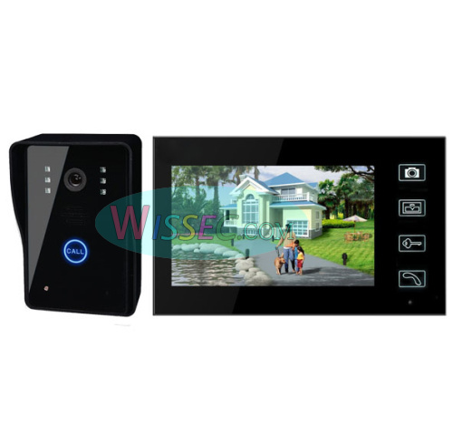 "7"" Wireless Door Phone Doorbell Intercom With Touch Key Camera(China (Mainland))"