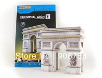 Free Shipping 3D Wooden Jigsaw Puzzle Toys Triumphal Arch Wholesale