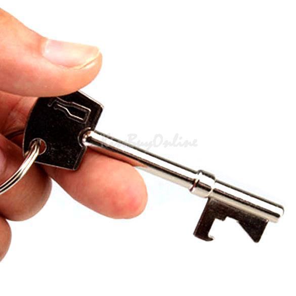 Hot New Practical Bottle Opener Key Ring Keyring Chain Design Metal Bar Tool K5B(China (Mainland))