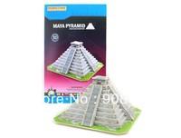 Free Shipping 3D Wooden Jigsaw Puzzle Toys Maya Pyramid Wholesale