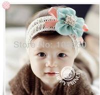 MZ045 Chiffon flower hair band lace child wig hair band baby hair accessory hair band baby headband