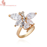 Free Shipping Gilding Ring Fine Fashion Gilding Dragonfly Women&Men Finger Ring Top Quality J0775