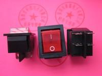 illuminated KCD4 mini rocker switch,boat switch,4 pins,220V