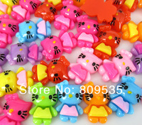 Free Shipping 100pcs Mixed Resin Hello Kitty Flatbacks Cabochon Scrapbook Craft