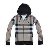 FREE SHIPPING Fashion b women's comfortable lycra cotton full plaid hooded sweatshirt