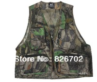 2014 new camouflage fishing vest  men's plus denim vest and outdoor casual multi-pocket waistcoat men outdoor Hiking mens vest