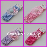 2013  new crochet headband with cute design baby headband wholesale 48pcs/lot  U PICK 4 designs Free shipping