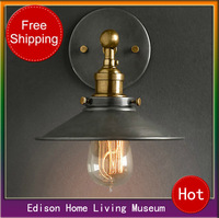 Industrial lamp american style wall lamp nostalgic vintage pure copper wall lamp aisle wall lamp
