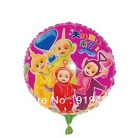50PCS\LOT 18-inch Round Teletubbies Foil Balloons Graduation Decoration Balloons Kids Inflatables Toys