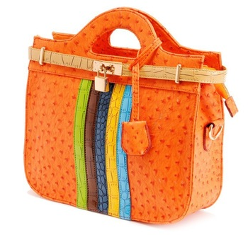 2013 new female ostrich with crocodile hit color candy color handbags free shipping