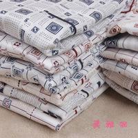 Men 100% cotton lounge men's plus size sleepwear plus size plus size cotton long-sleeve male 100% set female lovers
