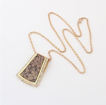 (Min order $10 mix) Europe and the new trend of atmospheric snake necklace, sweater chain+ FREE SHIPPING# 97744