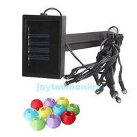 Mini Solar LED Lantern Lamp Outdoor Home Garden Xmas 10in1 Light-operated #1JT