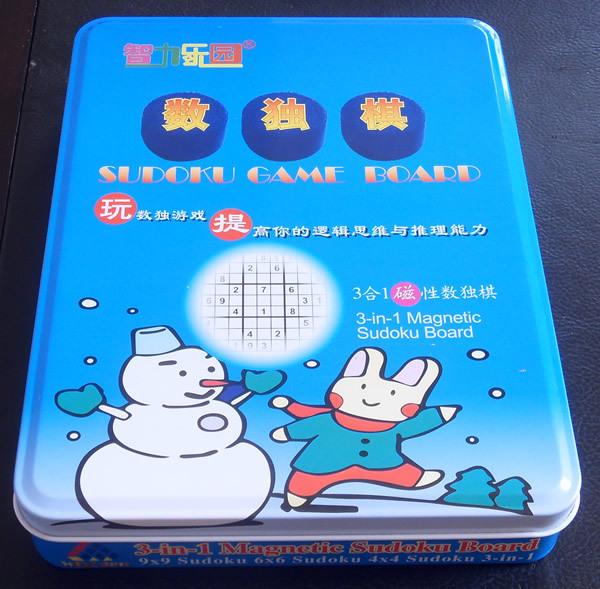 Yakuchinone three-in magnetic sudoku chess three-in tin(China (Mainland))
