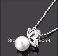 Free Shipping Mixed Order Over $10 Ladies Crystal jewelry Bow Bowknot Butterfly Pearl Necklace