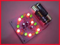 Led heart flashing lights kit heart led electronic fun electric bicycle flashing rear light