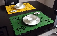 Free Shipping colorful creative felt placemats,  hot insulation, placemats for all kinds of dinnerware, table mats