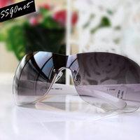 Ssgonet rimless sunglasses Women brief grey gradient color fashion