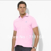 Wholesale - Mesh Cotton Mens Short Sleeve Polo Shirts Men's Custom-Fit Tee Shirts Male Tshirts