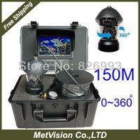 150meter fishing underwater video cmaera motorize 0~360 degree view professional fishing camera kit with SONY CCD freeshipping