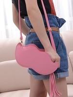 Free shipping, Fashion personality 2013 shaping bag bag tassel messenger bag day clutch  designer bag