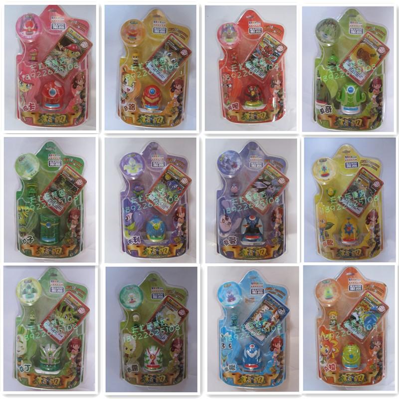 Wood baby doll dolls wood ball magic card single toy 12 full set(China (Mainland))