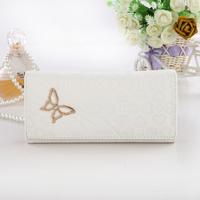 Wallet women's long design bag coin pocket 2013 women's 26 white