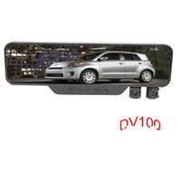 Dual Lens Mirror Car DVR Recorder Black Box HD1280*720 Night Vision Dv100 Free Shipping