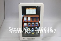 "free shipping 7"" High 1080p Digital Touch Screen 4GB Ebook Reader+leather cover"