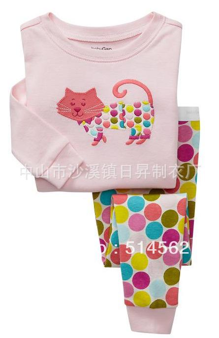 2014 New Hot Sale Promotion kids pajama sets toddler girls clothing sets childrens pajamas sale winter pjs Long Sleeve Cotton(China (Mainland))