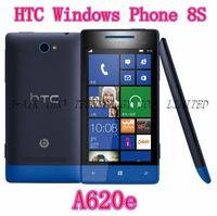 8S Original HTC Windows Phone 8S A620e GPS WIFI 4.0''TouchScreen 5MP camera Win8 Unlocked Cell Phone Free Shipping Refurbished