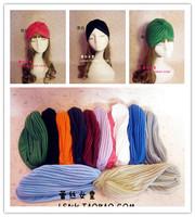 Hotsale fashion 13Color White red handmade cotton hair band hat turban headband elastic headbands hair accessories bandana scarf
