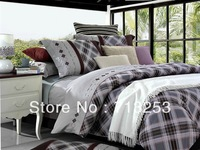 New 4pcs embroidery bedding bedclothes/bed sheet/coverlet/doona duvet covers Queen&king size the bed linen home textile NO.1332