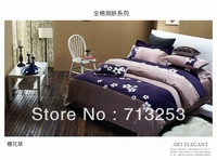 PROMOTION Free Shipping Embroidery BEDDING Bed Sheets 4pcs Bedding Set duvet cover set For Retail & Wholesale NO.1354