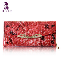 FOXER long design women's foxer wallet 2013 cowhide female wallet fashion serpentine pattern wallet