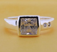 R213 Size:7.5# 925 silver ring, 925 silver fashion jewelry ring fashion ring /bnsakezasw