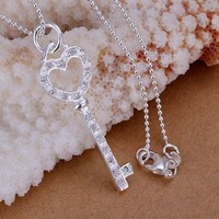 P198 fashion jewelry chains necklace 925 silver pendant Full inlay stone carefully shaped keyfob /btfakkmatb