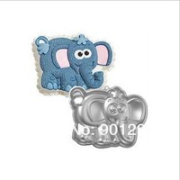 FREE SHIPPING Aluminum Alloy Elephant Cake Moulds Pan Dish Tin Birthday Party Cake Decorating Tools Fondant Cake Molds